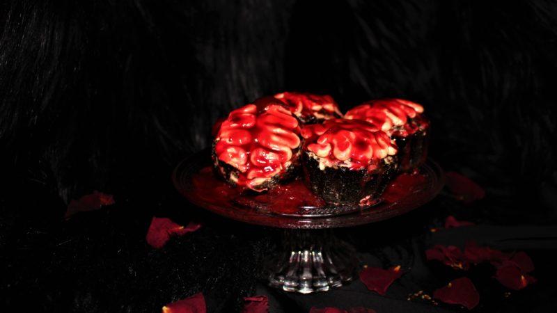 brain cupcakes für Halloween