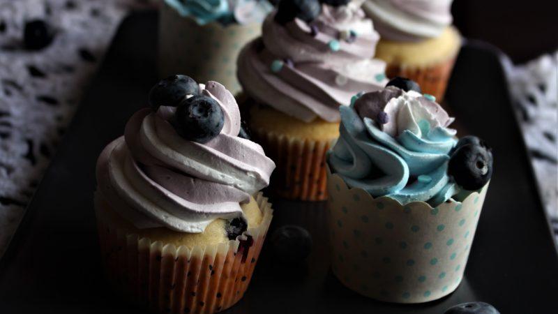 Fruchtige Blaubeer-Cupcakes